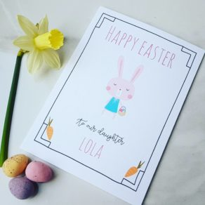 Personalised Carrots Easter Card