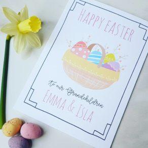 Personalised Basket Easter Card
