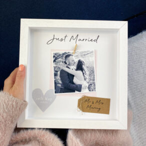 Personalised Just Married Photo Frame
