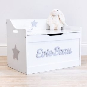 Personalised White Toy Box