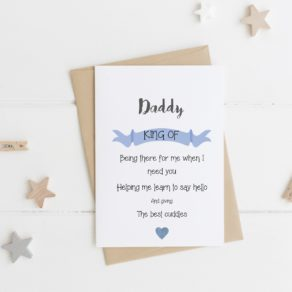 Personalised Father's Day Card - You're the King
