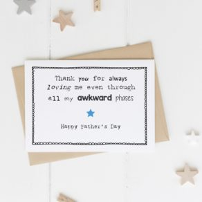 Personalised Awkward Phase Father's Day Card