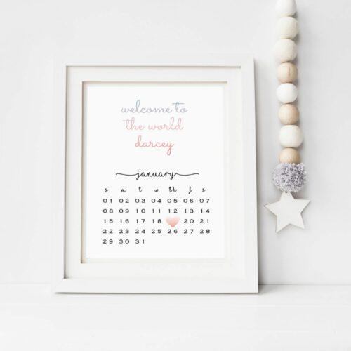 Personalised 2017 Calendar Print