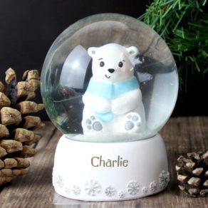 Polar Bear Personalised Snow Globe