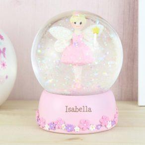Fairy Personalised Name Snow Globe