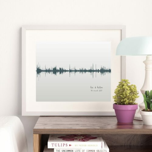 Personalised Sound Wave Print