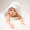 Personalised White Embroidered Towelling Cuddlerobe