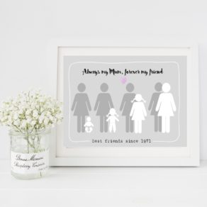 Mothers Day Print Always My Mother, Forever My Friend