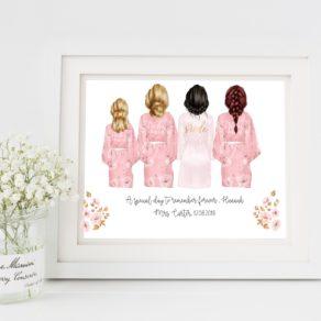 Personalised Bridesmaid Print