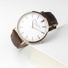 Personalised Men's Modern-Vintage Personalised Leather Watch