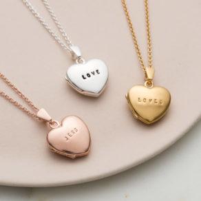 Personalised Mini Heart Locket