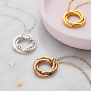 Personalised Russian Ring Necklace