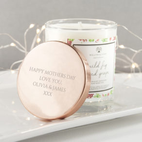 organic soy wax, cotton wicks and natural ingredients