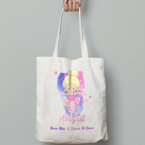 Personalised Ballet Tote Bag