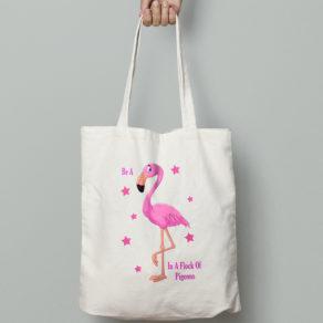 Personalised Flamingo Tote Bag