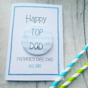 Top Dad Father's Day Badge Card