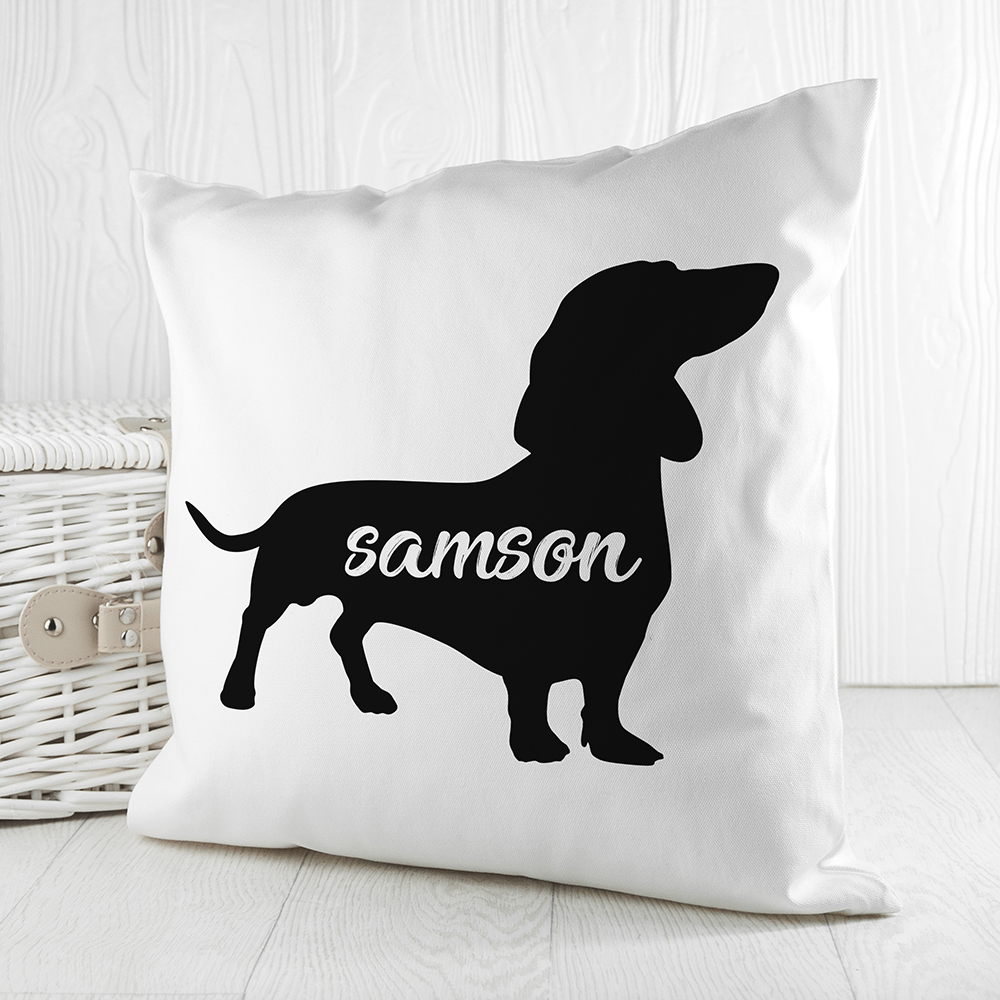 Personalised Dog Silhouette Cushion Cover