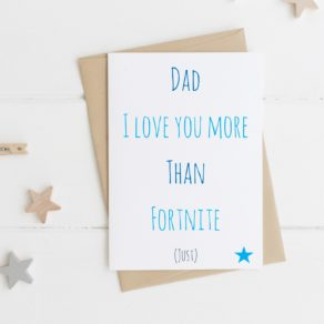 Personalised I Love You More Than Father's Day Card