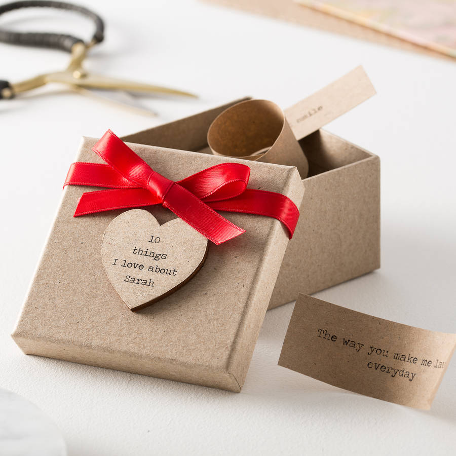 Personalised '10 Things I Love About…' Box
