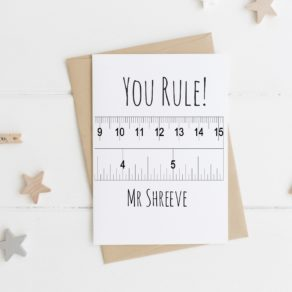 Personalised 'You Rule' Teacher Card