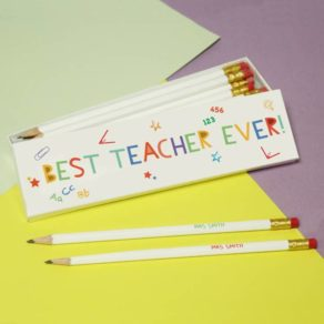 Best Teacher Ever Personalised Pencils & Box Set