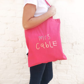 Teacher Tote Bag Personalised