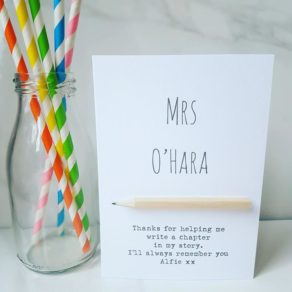 Personalised Teacher pencil card