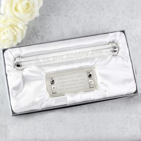 Personalised Church Silver Plated Certificate Holder
