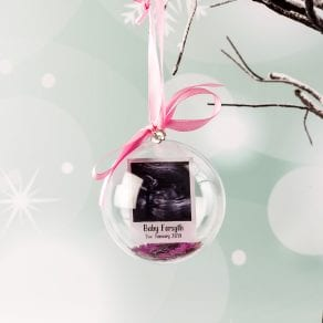Personalised Scan Photo Christmas Bauble