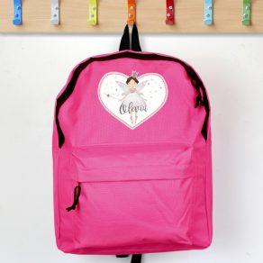 Personalised Fairy Princess Pink Backpack