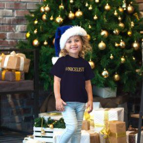 Personalised Kids Nice List Christmas T-shirt