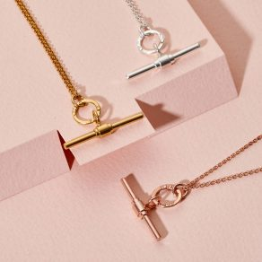 Personalised Albert T Bar Necklace