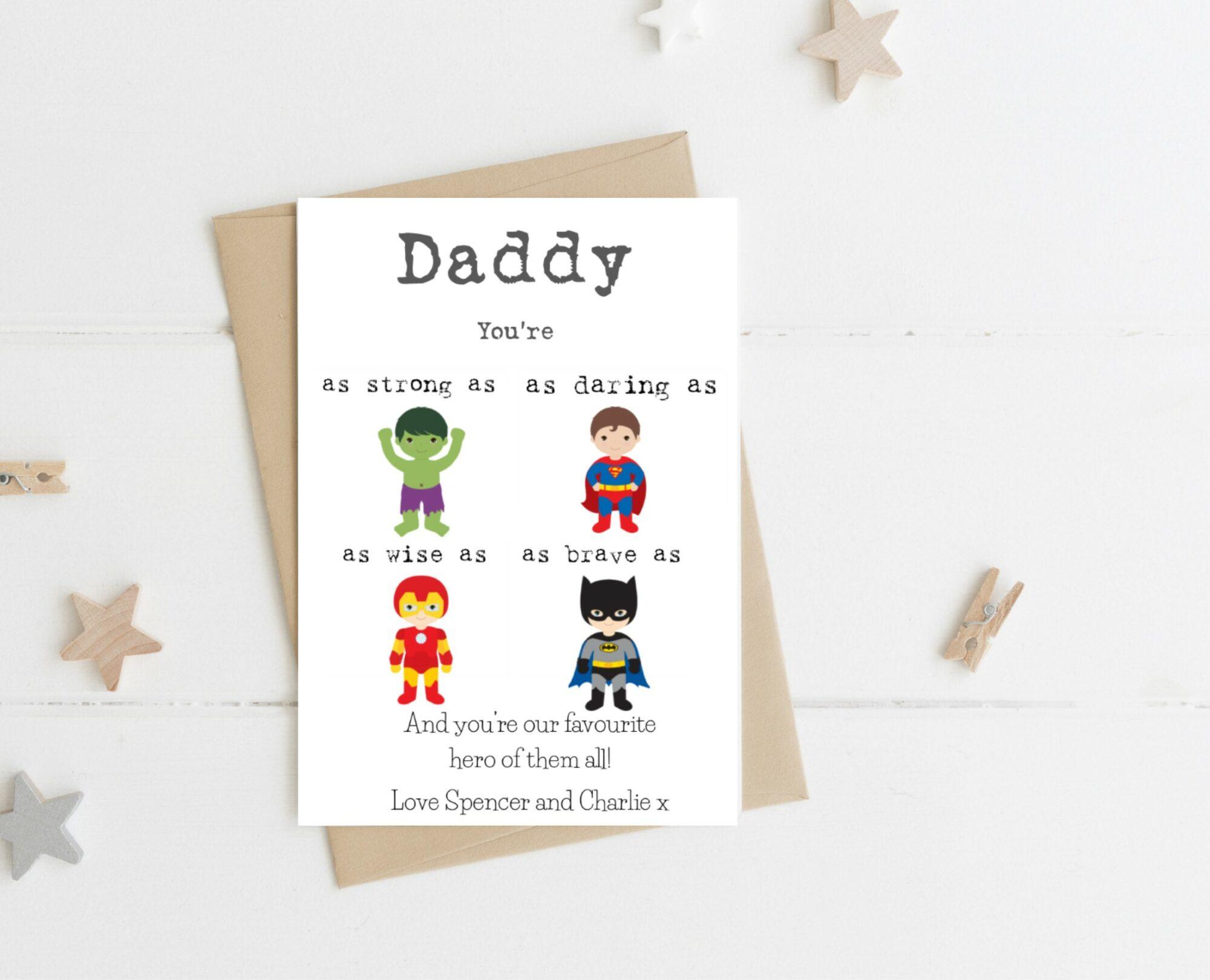 Favourite Hero Male Card