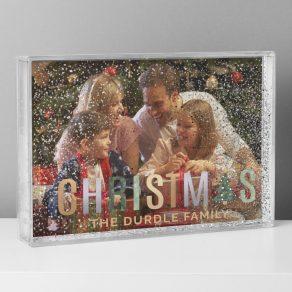 Personalised Christmas Glitter Shaker Photo Frame