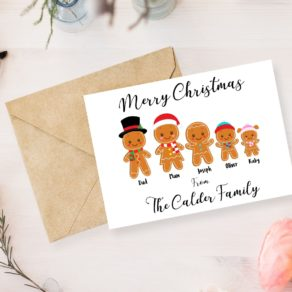 Personalised Christmas Gingerbread Family Pack