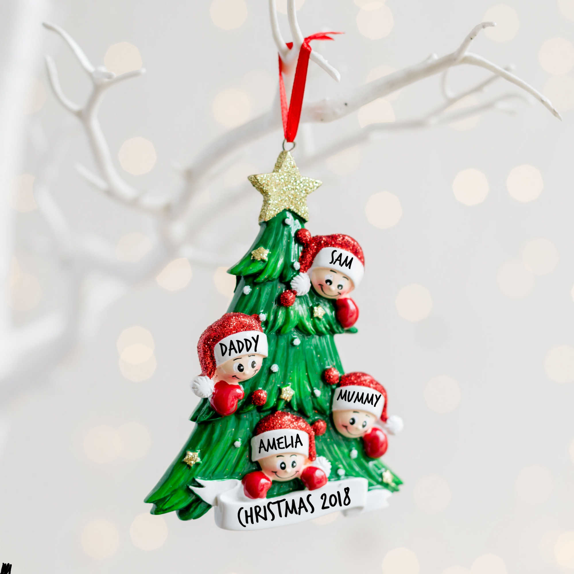 Personalised Christmas Tree Family Decoration