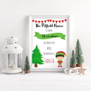 Elf Surveillance Personalised Print