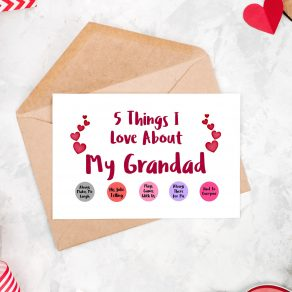 5 Things I Love About My Grandad Card