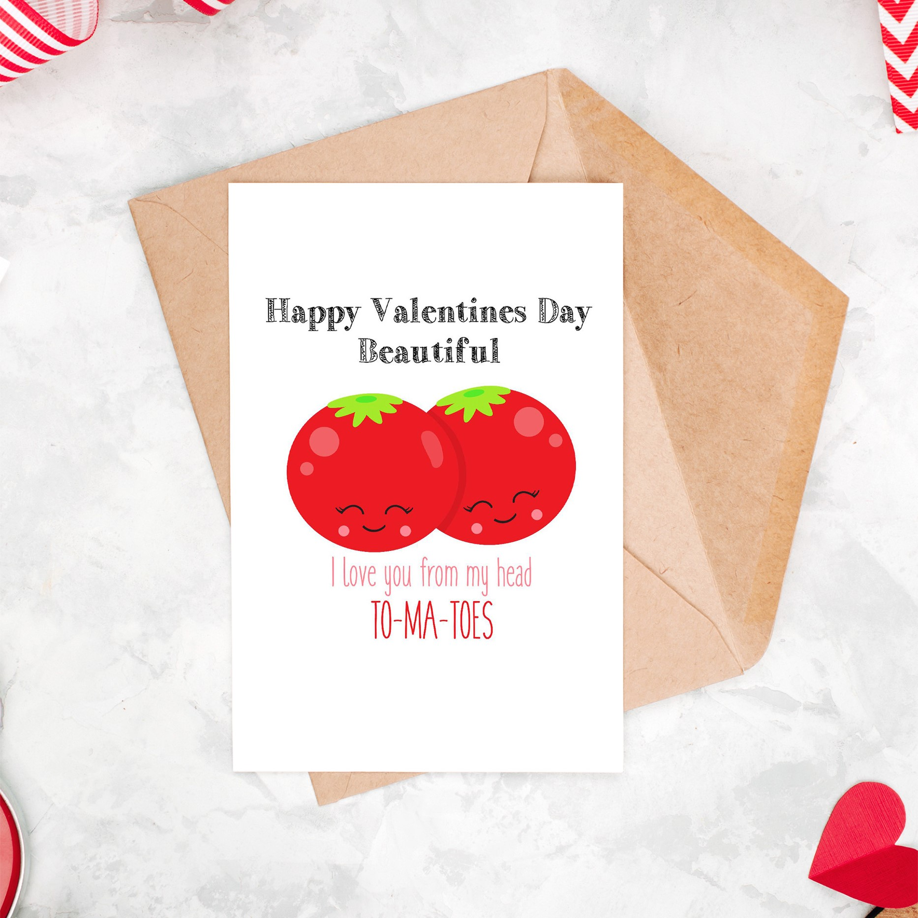 Head To-Ma-Toes Valentine's Day Card
