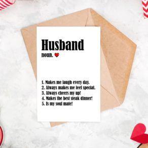 This Husband Definition Things I Love Card