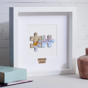 Personalised Anniversary Jigsaw Map Picture