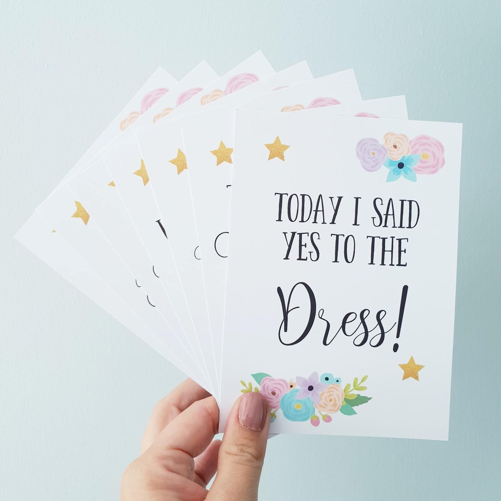 Set of 10 Personalised Wedding Milestone Cards