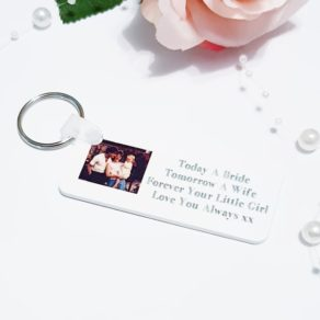 Personalised Father / Mother of the Bride Photo Keyring