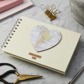 Personalised Vintage Map Heart Album