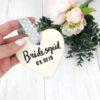 Bridesmaid Personalised Ceramic Heart Gift