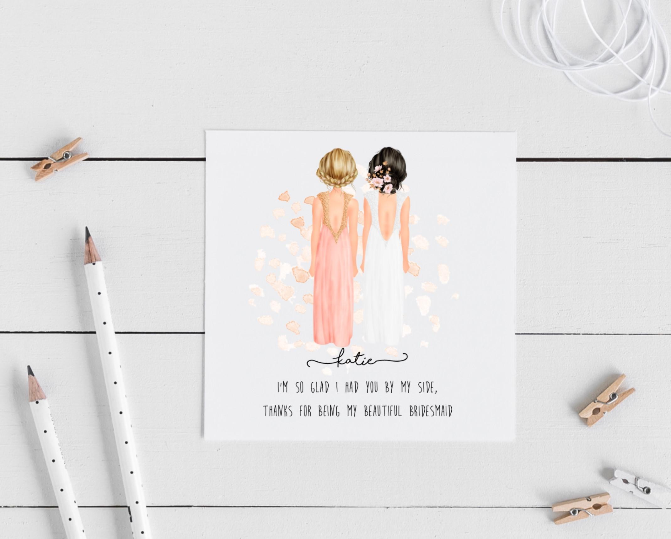 Personalised Bridesmaid Card