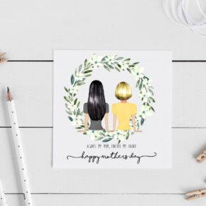 Personalised Best Friend Mothers Day Card