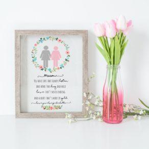 Personalised Mum Heart of Gold Print