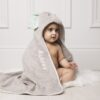 Zoocchini Grey Elle The Elephant Personalised Hooded Baby Towel