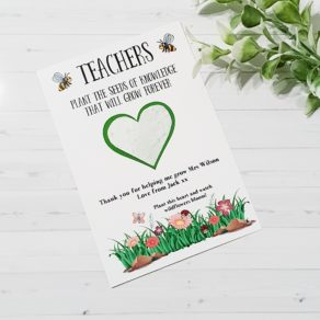 Plantable Seed Teacher End Of Term Greetings Card